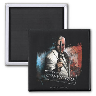 Two-Face - Convicted Square Magnet