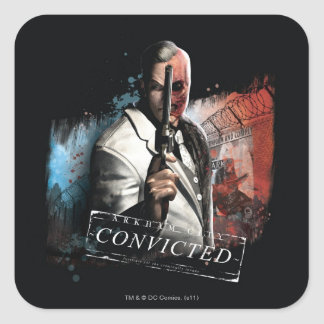 Two-Face - Convicted Square Sticker