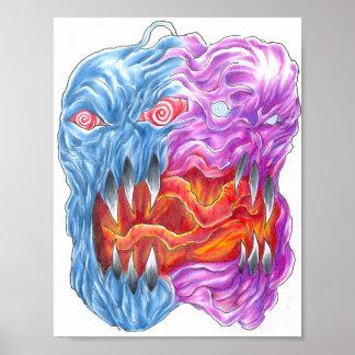 Two Face Demon Art Print