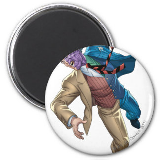 Two Face Falls 6 Cm Round Magnet