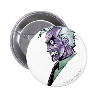 Two Face Profile 6 Cm Round Badge