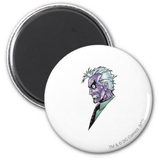 Two Face Profile 6 Cm Round Magnet