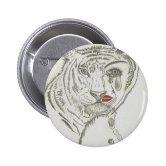 Two Face Tiger Pinback Buttons