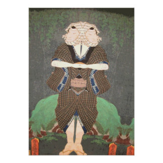 Two Faced Man Japanese Print