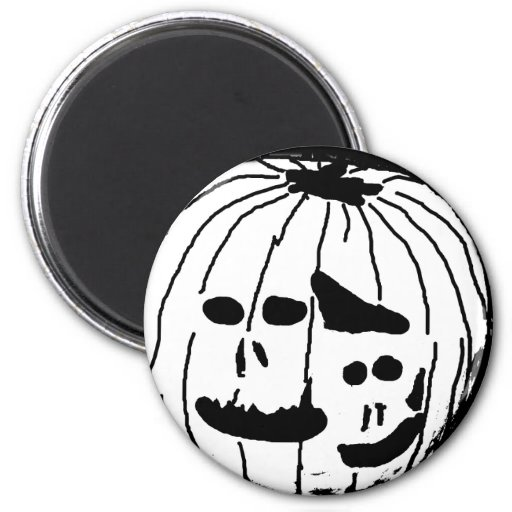 Two Faced Pumpkin Magnets
