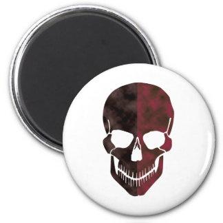 Two Faced Skeleton 6 Cm Round Magnet