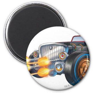Two Face's Car 2 6 Cm Round Magnet