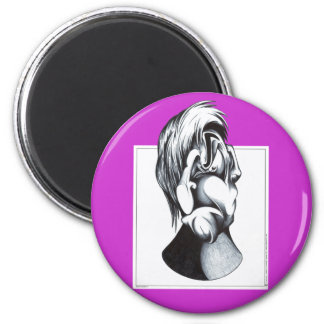 Two Faces of Grief 6 Cm Round Magnet