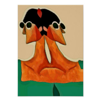 Two Faces of Woman Abstract Poster