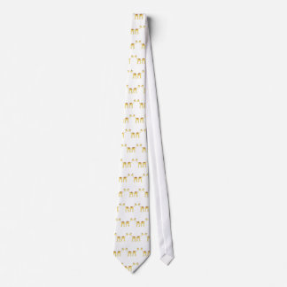 Two Facing Giraffes. Cartoon Tie