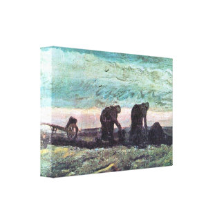 Two farmers by Vincent van Gogh Canvas Prints