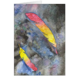Two Feathers Greeting Card