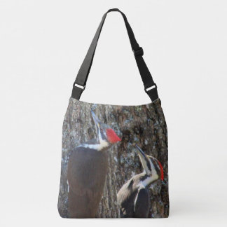 Two Female Pileated Woodpeckers Crossbody Bag
