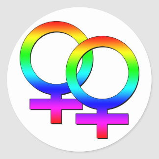 Two Female Signs Sticker