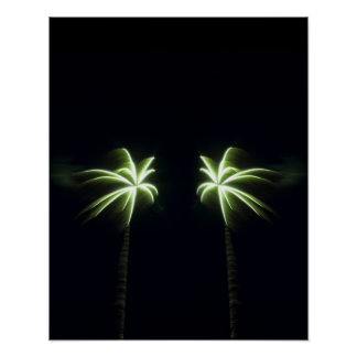 Two Firework Palm Trees Print