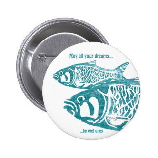 Two Fish Blue Personalized Pins