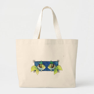 two fish jumbo tote bag