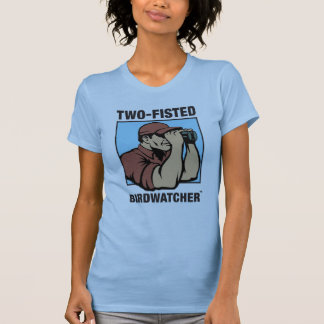 Two-Fisted Birdwatcher Ladies Fitted Tank