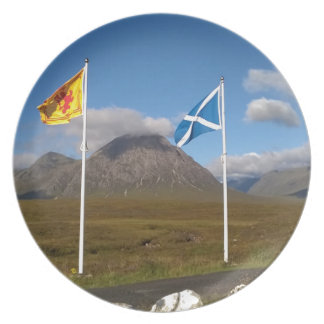 two flags of Scotland Dinner Plate