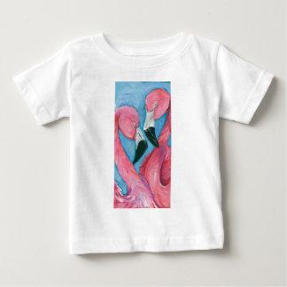 Two Flamingos Baby T-Shirt