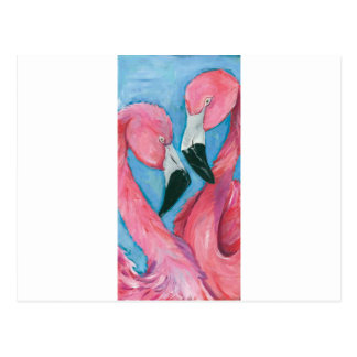 Two Flamingos Postcard
