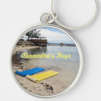 Two Floats Personalized Key Ring