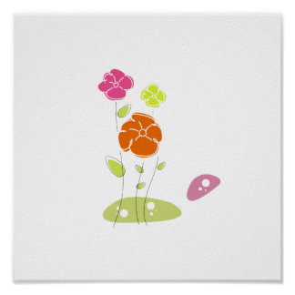Two flower abstract eco design.png print