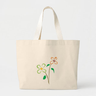 Two flowers canvas bag