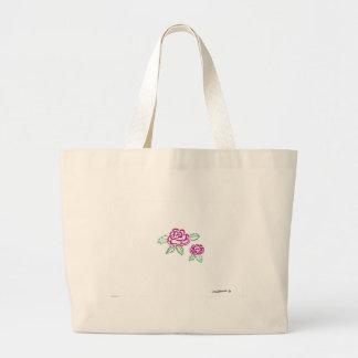 Two Flowers Jumbo Tote Bag
