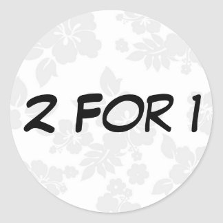Two for One Round Sticker