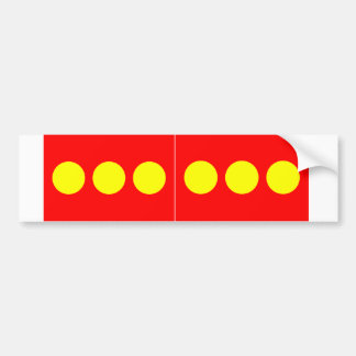 TWO Freetown Christiania Flag Bumper Sticker