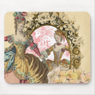 Two French Ladies and a Frame Mouse Pad