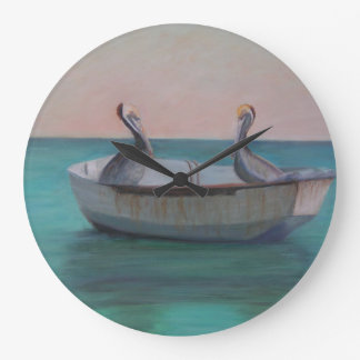 TWO FRIENDS IN A DINGHY Wall Clock