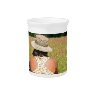 Two friends sitting together in meadow.JPG Pitcher