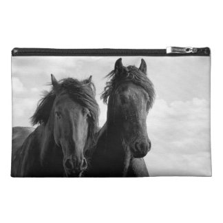 Two Friesian stallions Travel Accessory Bag