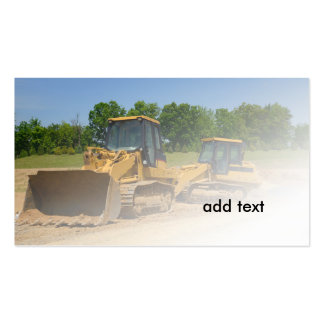 two front end loaders pack of standard business cards