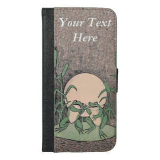Two Funny Angry Fighting Frogs on Lily Pad iPhone 6/6s Plus Wallet Case
