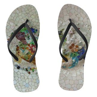 Two Gaudi Mosaics Thongs