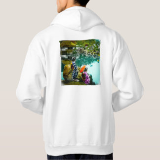 Two Geisha Enjoy a Day at the Park Vintage Japan Hoodie