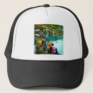 Two Geisha Enjoy a Day at the Park Vintage Japan Trucker Hat