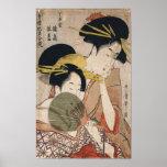 Two Geisha  Japanese Vintage Art Posters