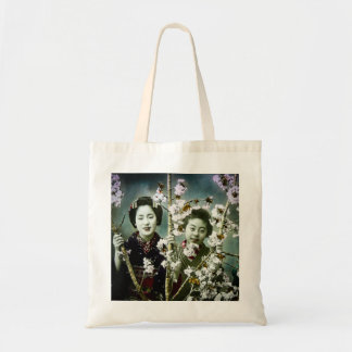Two Geisha Vintage Japan in Blossoms Japanese