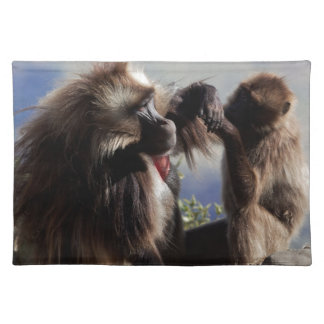 Two gelada baboons (Theropithecus gelada) Placemat