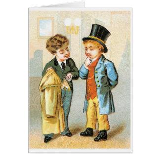Two Gentlemen Greeting Card