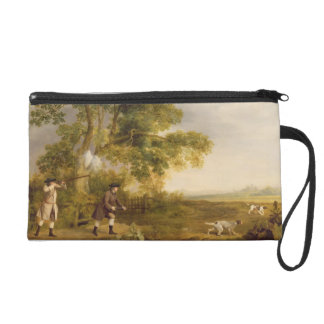 Two Gentlemen Shooting (oil on canvas) Wristlet Clutches