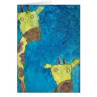 Two Giraffes Card