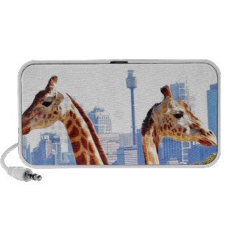Two giraffes iPhone speaker