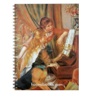 Two Girls (and Wimsey the Bloodhound) at the Piano Spiral Notebook