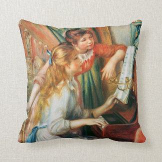 Two Girls at the Piano by Renoir Cushion