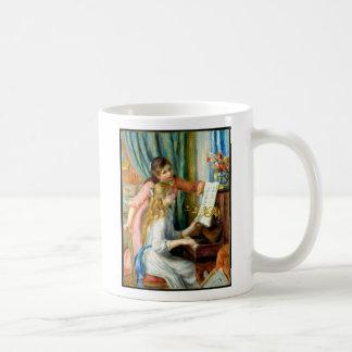 Two Girls at the Piano - Pierre Auguste Renoir Coffee Mug
